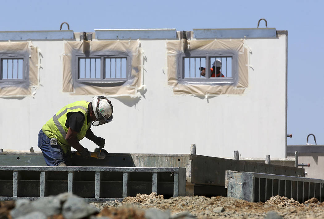 New cells are under construction at Mule Creek State Prison, in Ione, Calif., in 2015.  (AP Photo/Rich Pedroncelli, File)