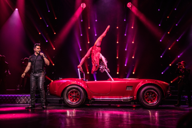 "Lacey Schwimmer and Frankie Moreno in ""Under the Influence"" at Planet Hollywood. (Credit John Knopf)"
