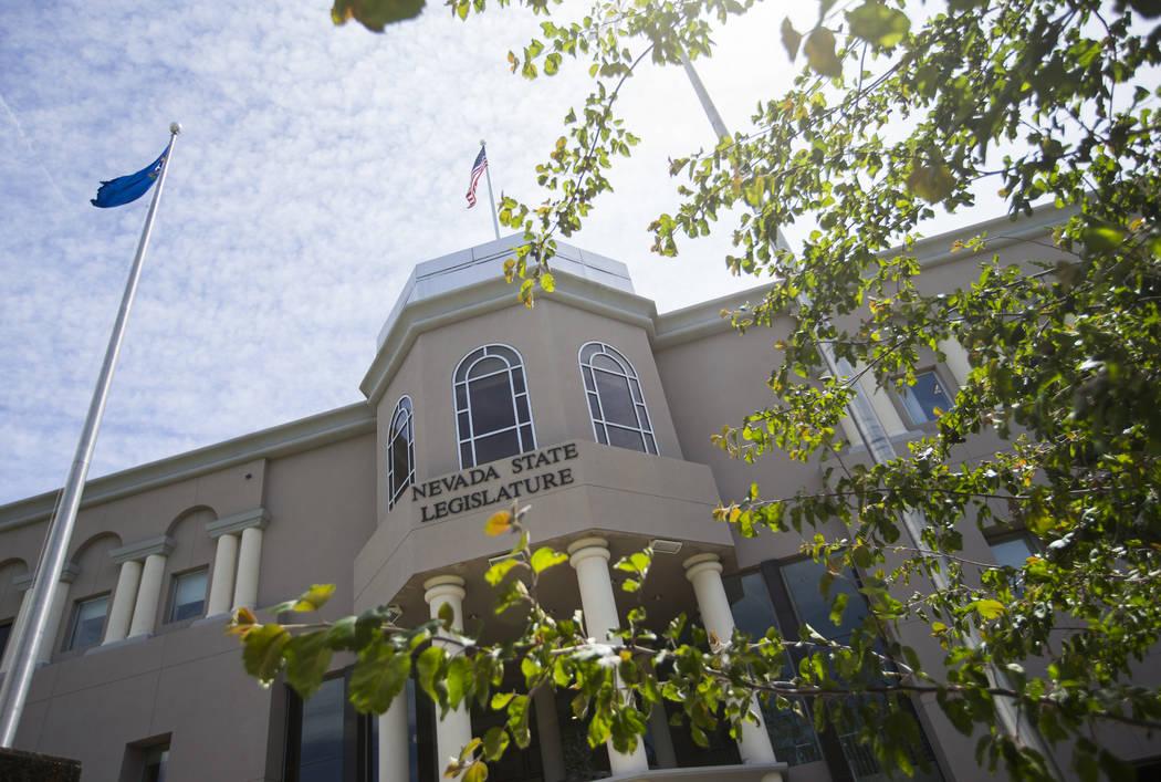 The Legislative Building on the second to last day of the Nevada Legislature in Carson City on Sunday, June 4, 2017. (Chase Stevens Las Vegas Review-Journal) @csstevensphoto