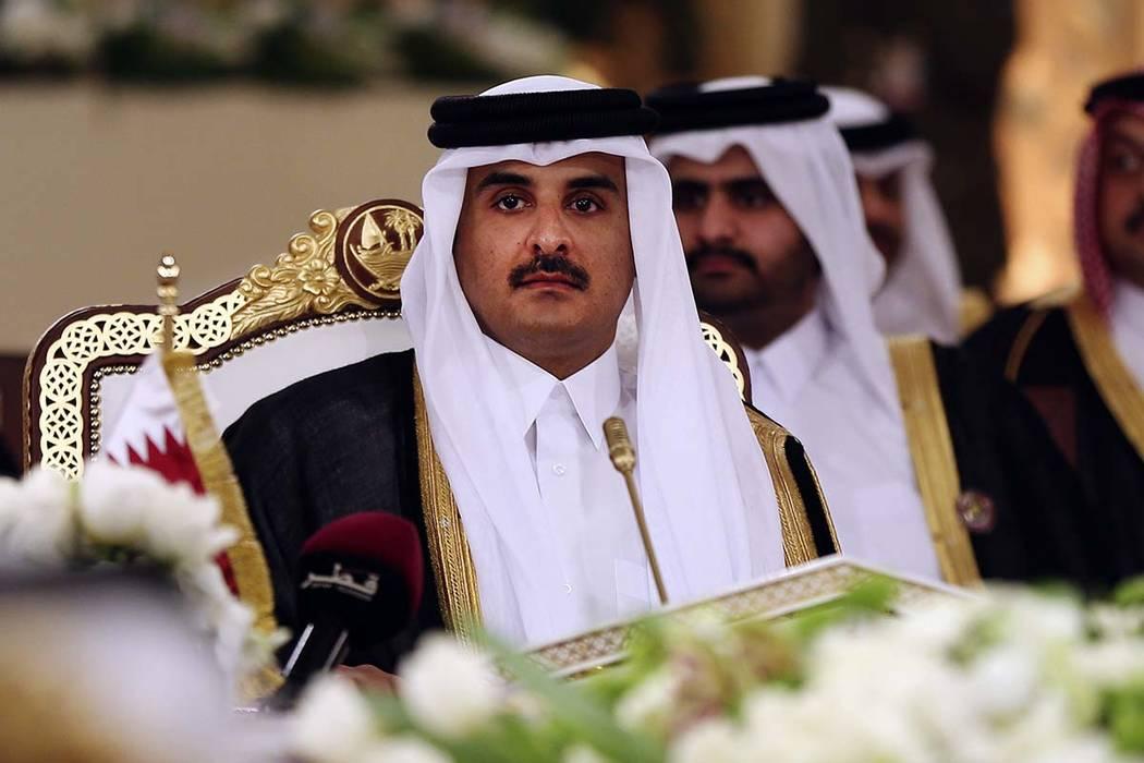 n this Tuesday, Dec. 9, 2014 file photo, Qatar's Emir Sheikh Tamim bin Hamad Al-Thani attends a Gulf Cooperation Council summit in Doha, Qatar. (Osama Faisal/AP)