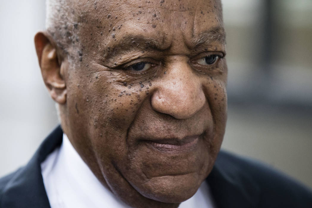 Bill Cosby arrives for his sexual assault trial at the Montgomery County Courthouse in Norristown, Pa., Monday, June 5, 2017. (AP Photo/Matt Rourke)