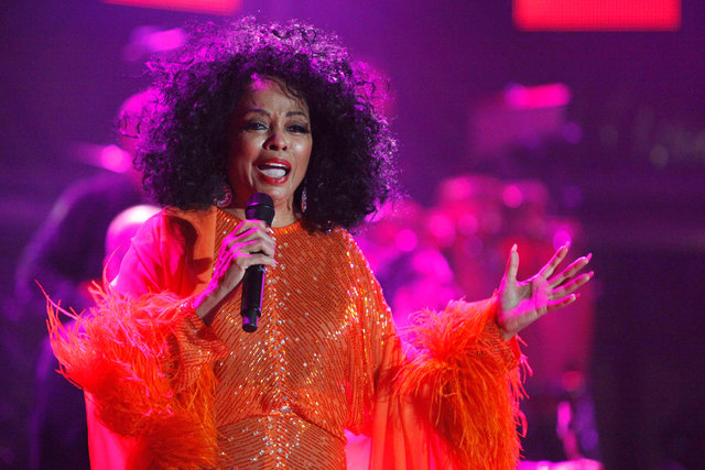 Singer Diana Ross performs on the final day of the 21st Annual St. Lucia Jazz festival at Pigeon Island National Landmark, May 13, 2012. (Andrea De Silva/Reuters)