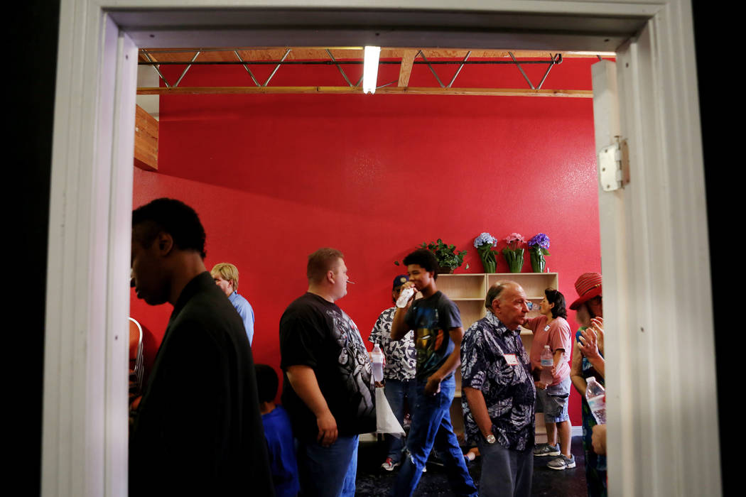 The local chapter of Sunday Assembly finishes gathering at the Center for Science and Wonder in Las Vegas, June 4, 2017.  Elizabeth Brumley/Las Vegas Review-Journal