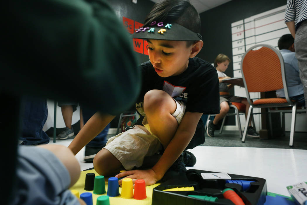 The local chapter of Sunday Assembly gathers at the Center for Science and Wonder in Las Vegas, June 4, 2017.  Elizabeth Brumley/Las Vegas Review-Journal