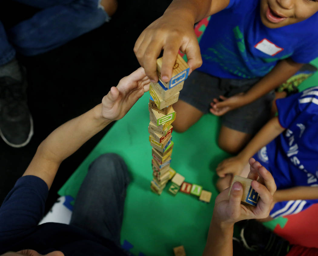 Kids play during child care while the local chapter of Sunday Assembly meets at the Center for Science and Wonder in Las Vegas, June 4, 2017.  Elizabeth Brumley/Las Vegas Review-Journal