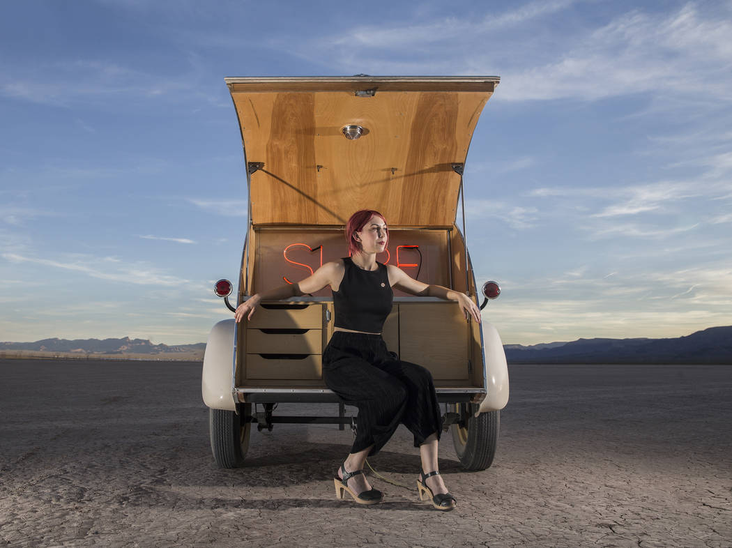 Victoria Hogan is the founder of Flora Pop, offering pop up weddings with unique locations and themes throughout the South West. Photo taken on Tuesday, June 6, 2017, at El Dorado Dry Lake Bed, ou ...