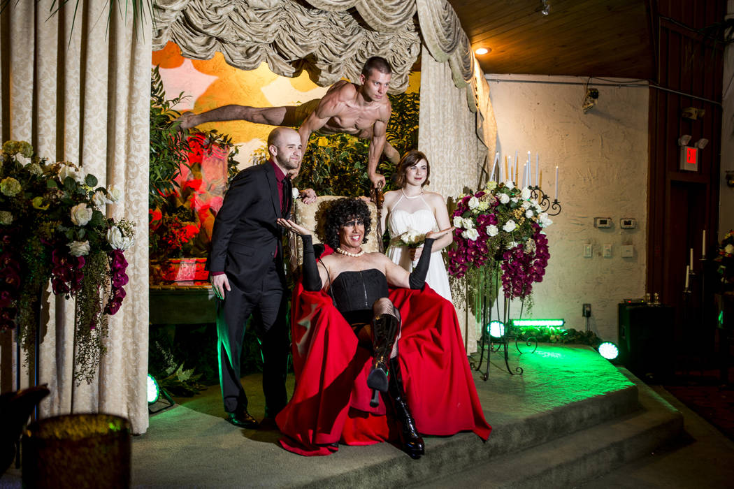 The Rocky Horror Picture Show wedding of Alex Spivak and Dominique Lehn at the Viva Las Vegas Wedding Chapel on Saturday, June 3, 2017.  Patrick Connolly Las Vegas Review-Journal @PConnPie