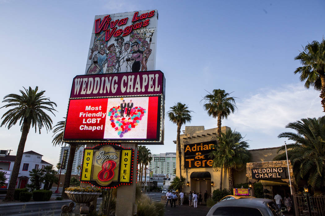 The Viva Las Vegas Wedding Chapel on Saturday, June 3, 2017.  Patrick Connolly Las Vegas Review-Journal @PConnPie