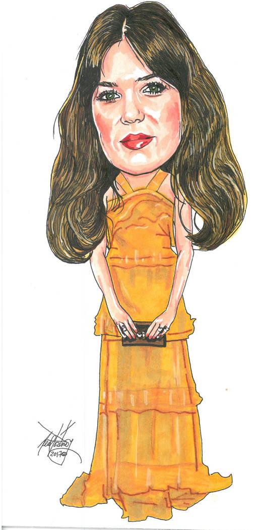 Mandy Moore illustration. Neal Portnoy