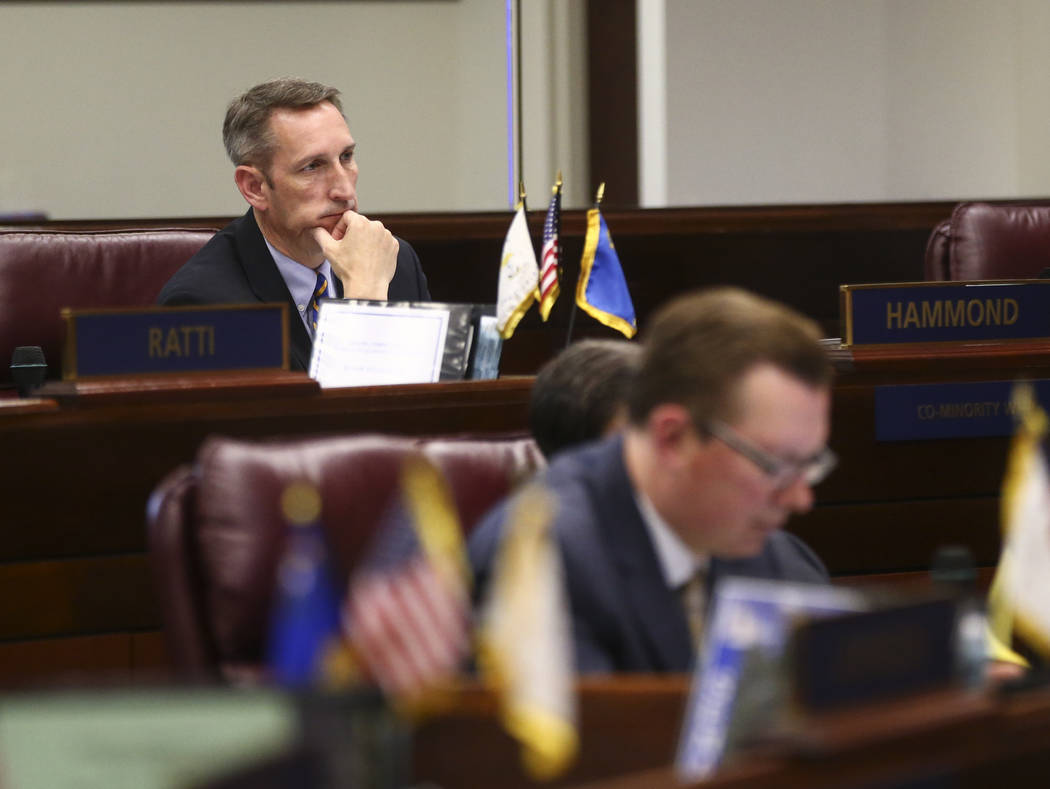 Sen. Scott Hammond, R-Las Vegas, during the last day of the Nevada Legislature at the Legislative Building in Carson City on Monday, June 5, 2017. (Chase Stevens Las Vegas Review-Journal) @cssteve ...