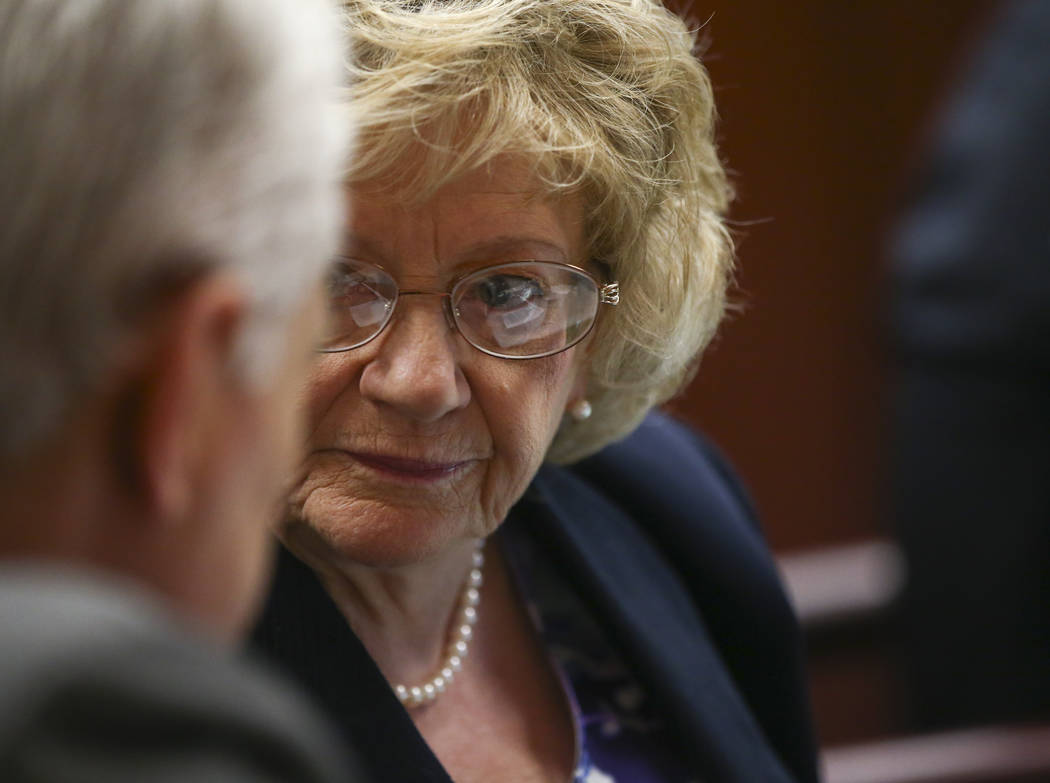 Sen. Joyce Woodhouse, D-Henderson, during the last day of the Nevada Legislature at the Legislative Building in Carson City on Monday, June 5, 2017. Chase Stevens Las Vegas Review-Journal @cssteve ...