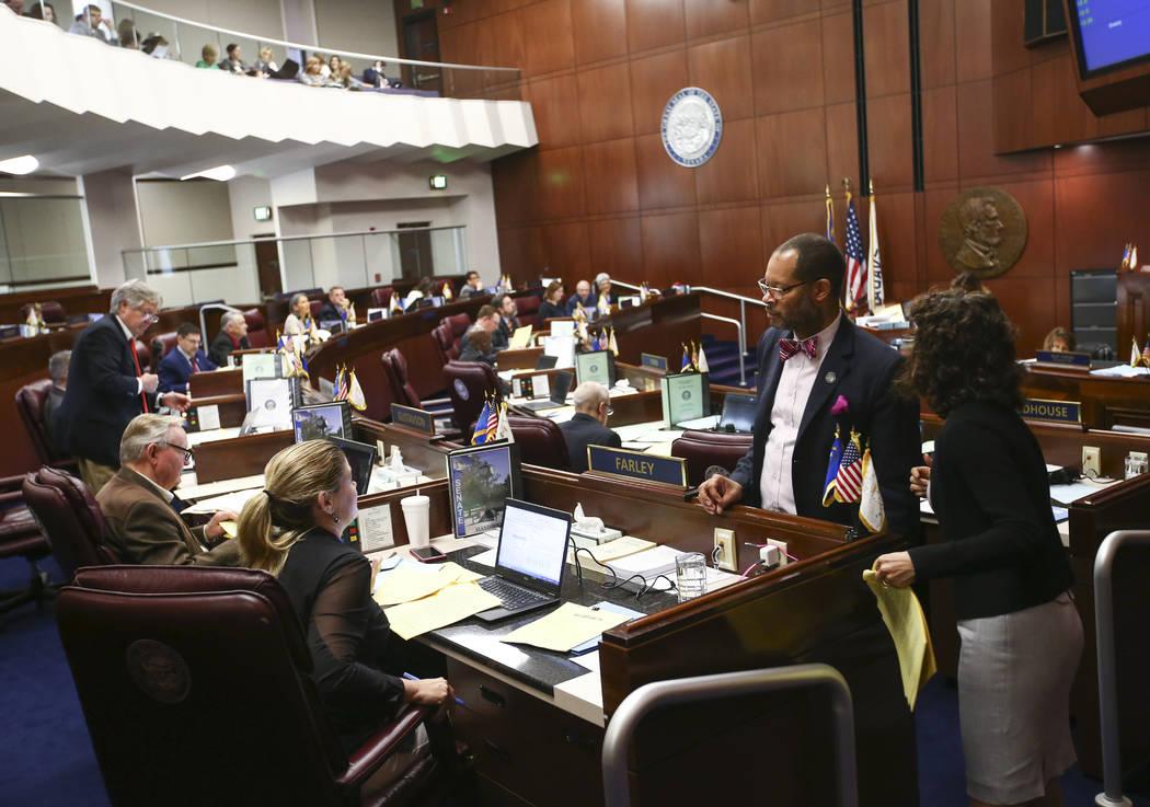 The Nevada Senate during the last day of the Nevada Legislature at the Legislative Building in Carson City on Monday, June 5, 2017. Chase Stevens Las Vegas Review-Journal @csstevensphoto