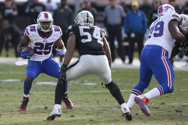 Buffalo Bills running back LeSean McCoy during the teams NFL football game against the Oakland Raiders on Sunday, Dec. 04, 2016, in Oakland, CA. The Raiders won 38-24. (Daniel Gluskoter/AP Images  ...