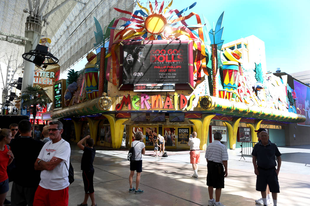 Permanently closed Mermaids Casino is being considered to be set up as a temporary casino by the Gaming Control Board in order to preserve the gaming license, in downtown Las Vegas, Tuesday, June  ...