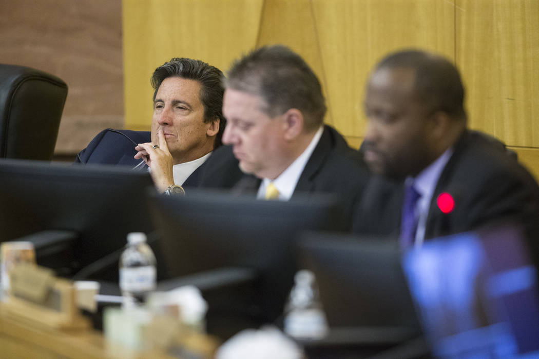 Board member Bill Hornbuckle during a Las Vegas Stadium Authority Board meeting at the Clark County Government Center on Thursday, June 8, 2017 in Las Vegas. Erik Verduzco/Las Vegas Review-Journal