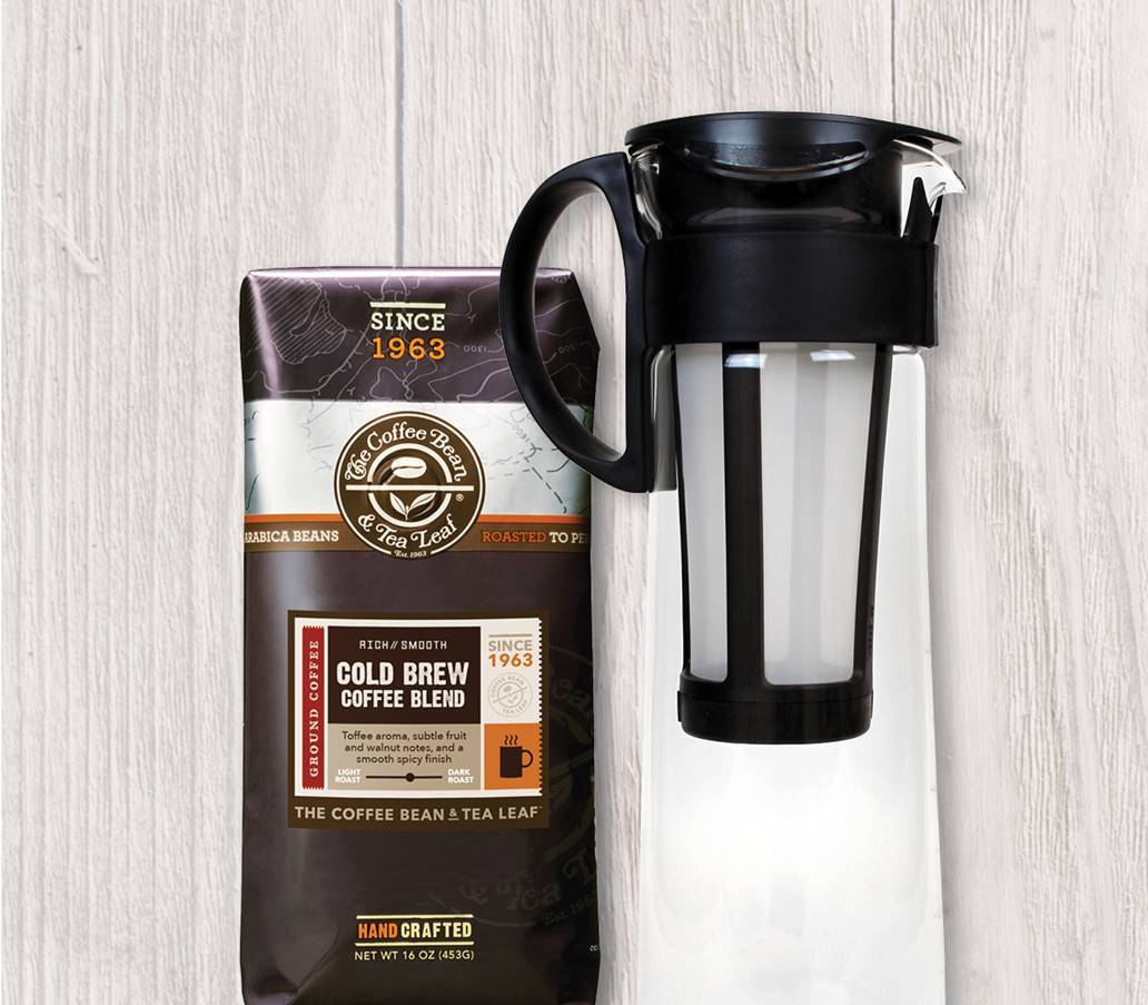 This starter kit helps you make cold-brew coffee. The Coffee Bean & Tea Leaf