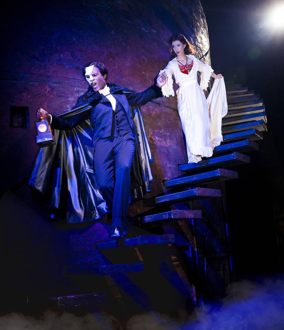 "Derrick Davis and Katie Travis star in ""The Phantom of the Opera."" (Matthew Murphy)"