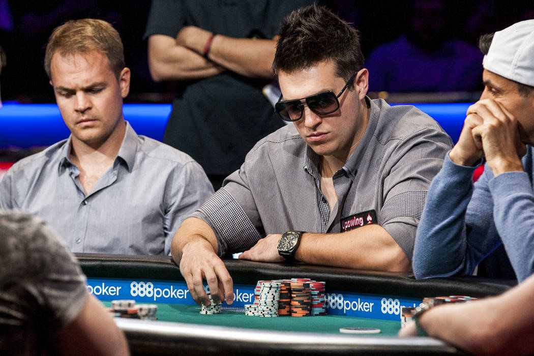 Doug Polk competes in the $111,111 buy-in High Roller for One Drop No-Limit Hold'em event at the World Series of Poker at the Rio Convention Center on Monday, June 5, 2017. Patrick Connolly Las Ve ...