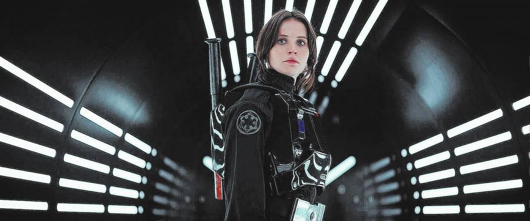 "Felicity Jones as Jyn Erso in the film ""Rogue One: A Star Wars Story."" (Lucasfilm Ltd.)"