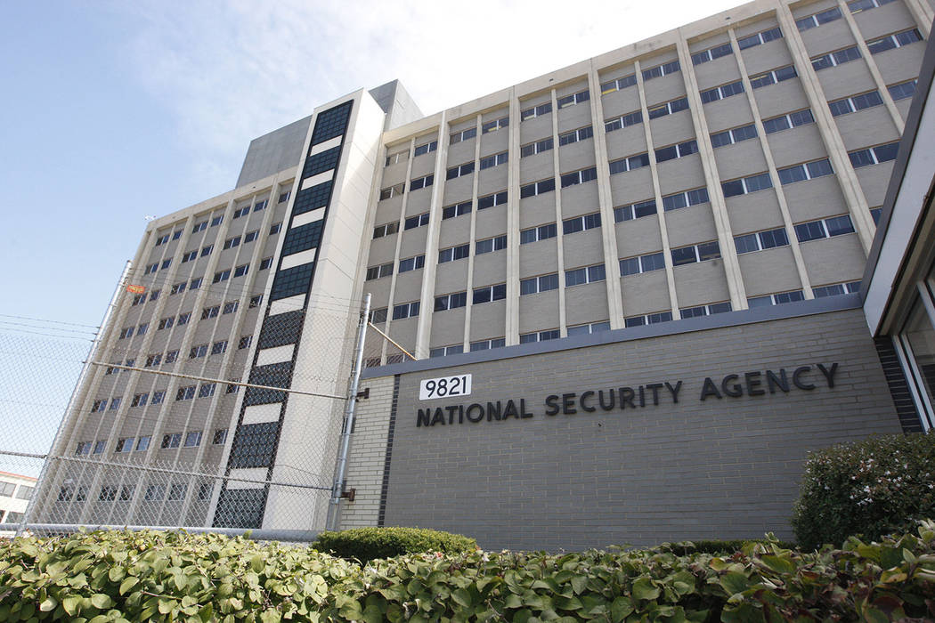 This file photo shows the National Security Agency building at Fort Meade, Md.  (AP Photo/Charles Dharapak, File)