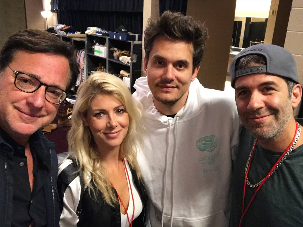 Bob Saget, left, and John Mayer, second from right. (Jeff Ragazzo)