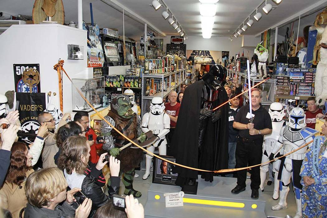"A ceremony takes place at the Star Wars museum, Rancho Obi-Wan, in Petaluma, California. A Georgia man is facing felony grand theft charges for stealing more than $200,000 worth of prized ""Star Wa ..."