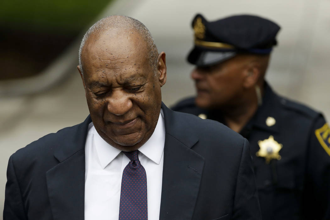 Bill Cosby arrives for his sexual assault trial at the Montgomery County Courthouse, Tuesday, June 6, 2017, in Norristown, Pa. (Matt Slocum/AP)
