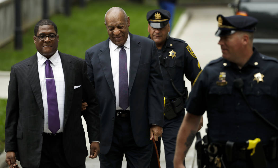 Bill Cosby arrives for his sexual assault trial at the Montgomery County Courthouse, Tuesday, June 6, 2017 in Norristown, Pa. (Matt Slocum/AP)