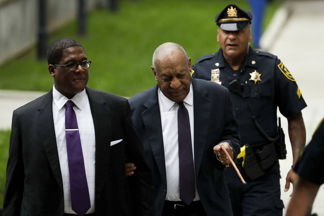 Bill Cosby reacts to a comment from the crowd as he arrives for his sexual assault trial at the Montgomery County Courthouse, Tuesday, June 6, 2017 in Norristown, Pa. (Matt Slocum/AP)