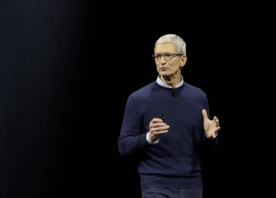 Apple CEO Tim Cook speaks during an announcement of new products at the Apple Worldwide Developers Conference in San Jose, Calif., Monday, June 5, 2017. (AP Photo/Marcio Jose Sanchez)