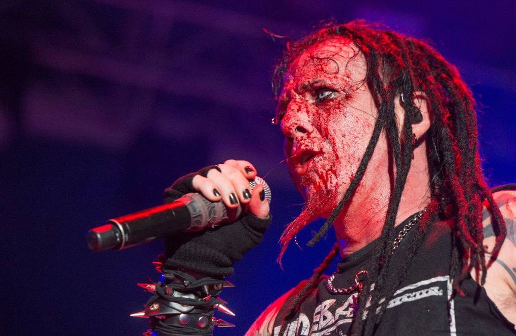 Hellyeah performs during The Scars and Stripes Festival on Saturday, June 3, 2017, at Downtown Las Vegas Events Center. (Tom Donoghue)