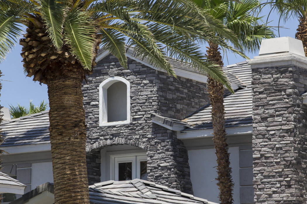 The home of former Strip illusionist Jan Rouven located at 7080 Donald Nelson Ave. near North Tenaya Way in Las Vegas on Friday, May 26, 2017. Richard Brian Las Vegas Review-Journal @vegasphotograph