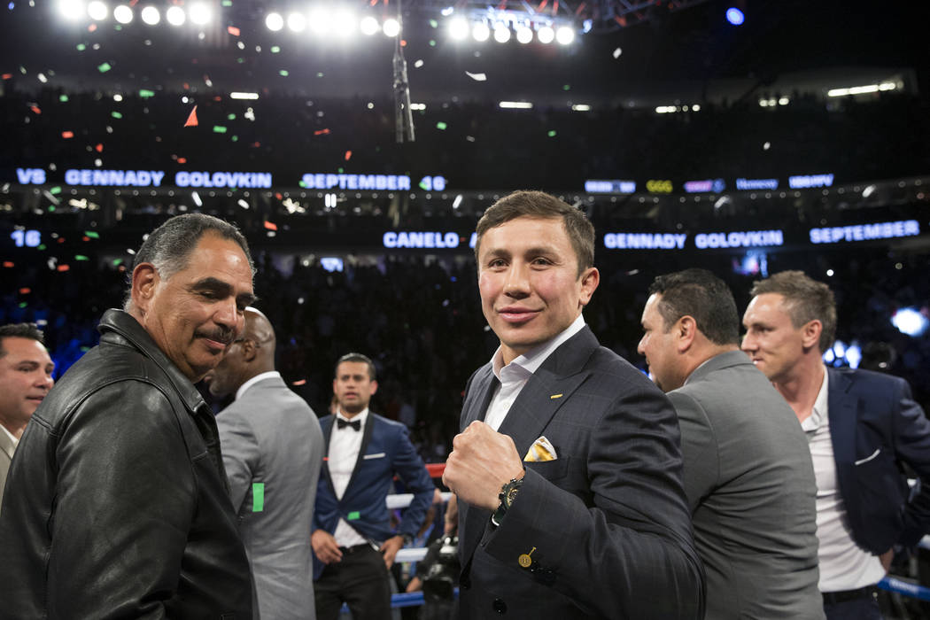 Gennady Golovkin at T-Mobile Arena on Saturday, May 6, 2017, in Las Vegas. Erik Verduzco Las Vegas Review-Journal @Erik_Verduzco