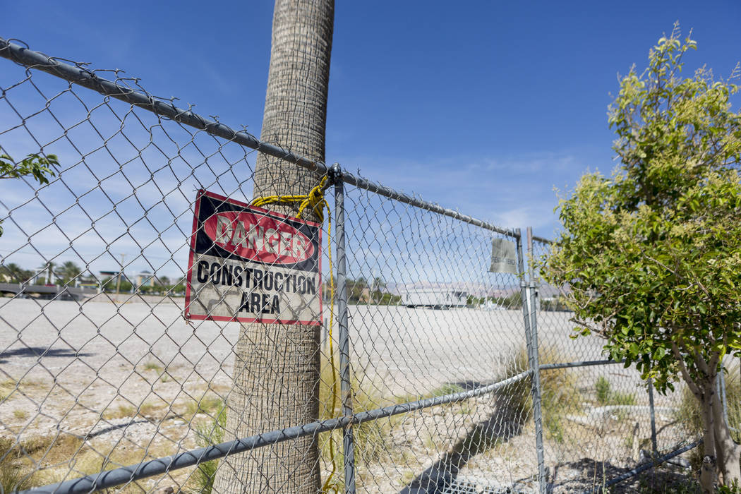 A vacant plot of land on the off of South Rampart Blvd. and Alta Drive across from Tivoli Village in Las Vegas, Wednesday, June 7, 2017. Elizabeth Brumley/ The Las Vegas Review-Journal