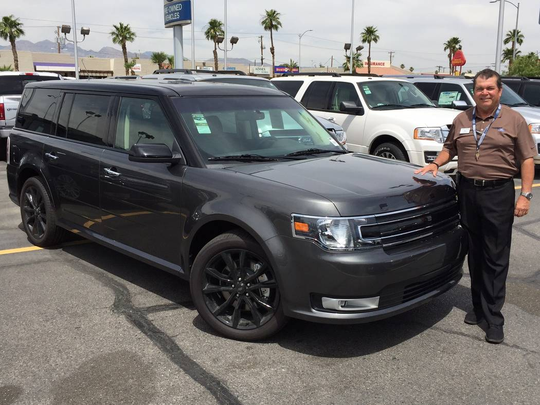 Friendly Ford Veteran automobile sales consultant Rafael De Leon said the 2017 Ford Flex SUV has many impressive technology elements. The vehicle is available at Friendly Ford at 660 N. Decatur Blvd.
