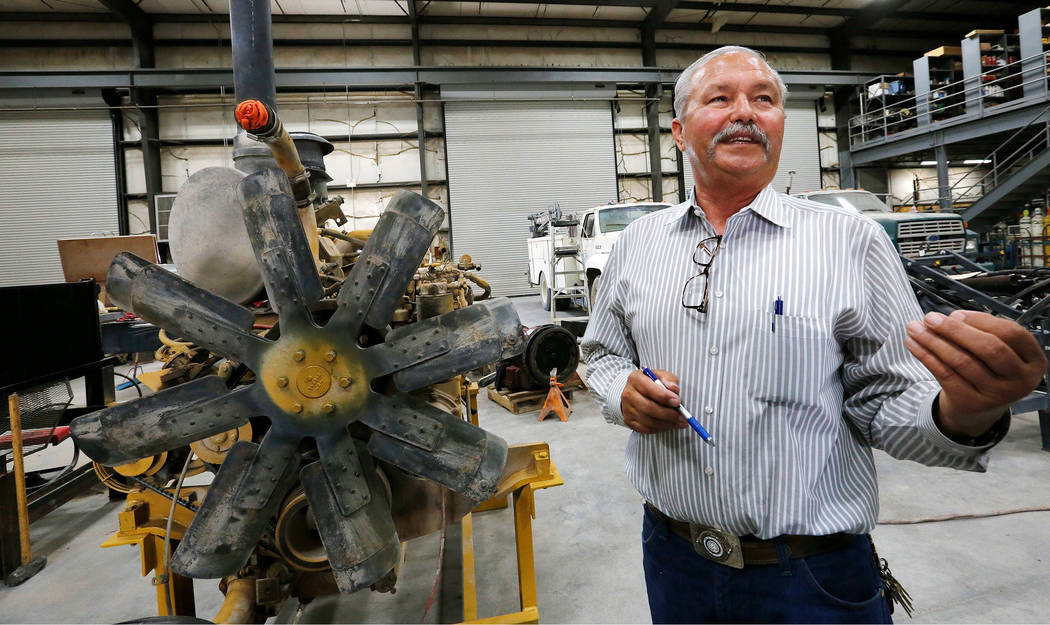 Louis Loupias, coordinator of the Southern Nevada Operating Engineers JATC, speaks to the Review-Journal about their apprenticeship program at William C. Waggoner Training Center in Las Vegas, Wed ...