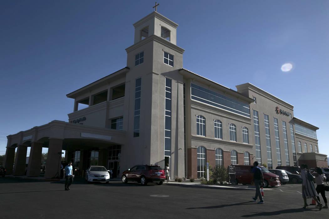 Dignity Health St. Rose Dominican Hospital in North Las Vegas is seen Thursday, June 15, 2017. (Gabriella Angotti-Jones/Las Vegas Review-Journal) @gabriellaangojo