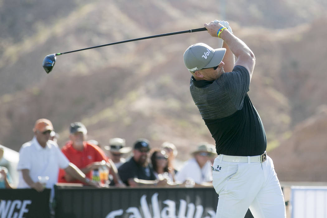 "Tim Burke competes at the World Long Drive Association's ""Clash in the Canyon"" at Mesquite Regional Sports and Event Complex on Tuesday, June 6, 2017, in Mesquite. Ryan Reisbeck  ..."