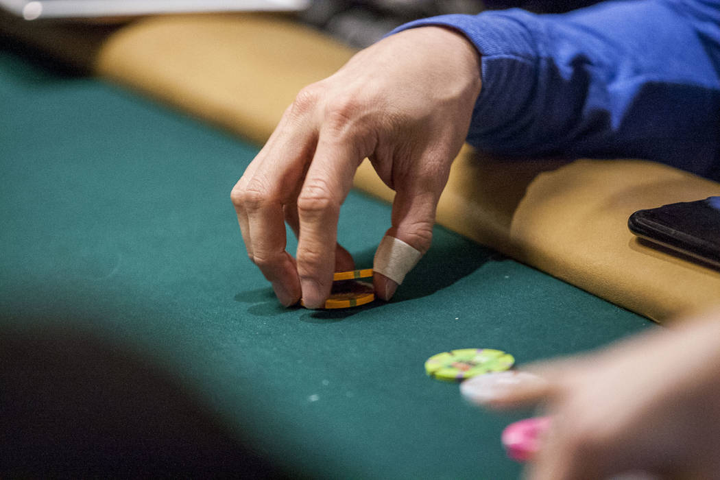 Jeff Gross plays poker in a tag team event during the opening of the World Series of Poker at the Rio Convention Center on Wednesday, May 31, 2017. Patrick Connolly Las Vegas Review-Journal @PConnPie