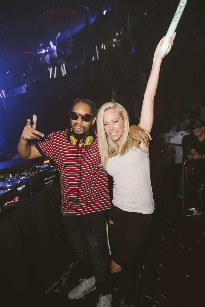 Lil Jon and Kendra Wilkinson at Omnia at Caesars Palace on Tuesday, June 6, 2017, in Las Vegas. (Aaron Garcia)