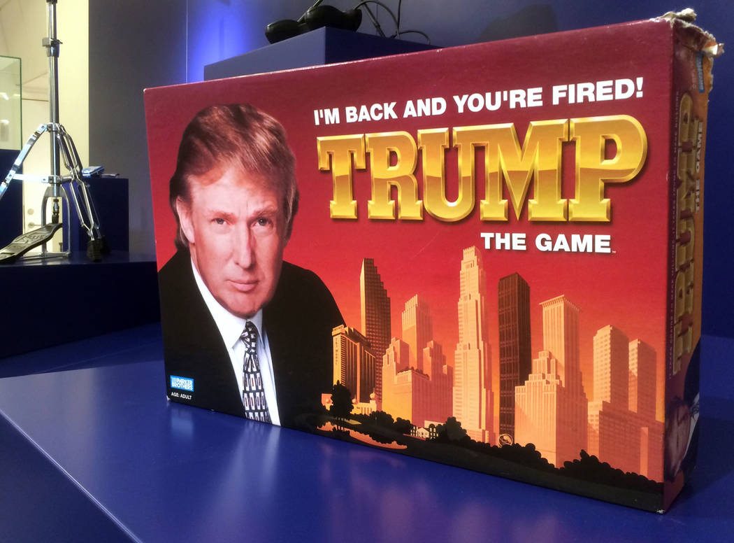 In this photo taken on Thursday, June 1, 2017, the board game Trump: I'm Back And You're Fired is on display at the Museum of Failure in Helsingborg, Sweden. Green Heinz ketchup? Fat-free Prin ...