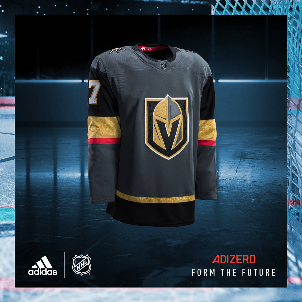 The Vegas Golden Knights' jersey. Adidas unveiled the NHL jerseys on Tuesday, June 20, 2017. (Adidas)