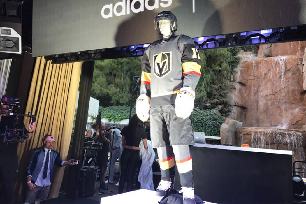 sports shoes a347e d7395 Vegas Golden Knights' uniforms stay true to owner's colors ...