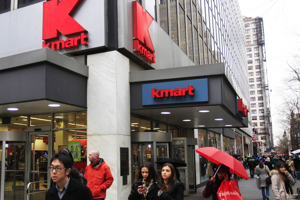 Kmart owner Sears plans to close 72 more stores, including two in Las Vegas. (Frank Franklin II/AP, File)