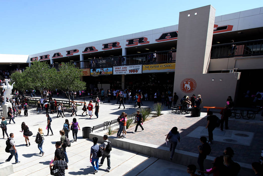 Chaparral High School, seen in 2011 (Las Vegas Review-Journal)