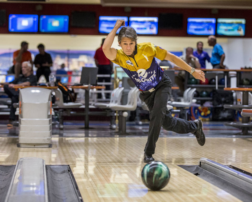 Amleto Monacelli practices for the Suncoast PBA Senior U.S. Open at the Suncoast Bowling Center on Sunday, June 11, 2017.  Patrick Connolly Las Vegas Review-Journal @PConnPie