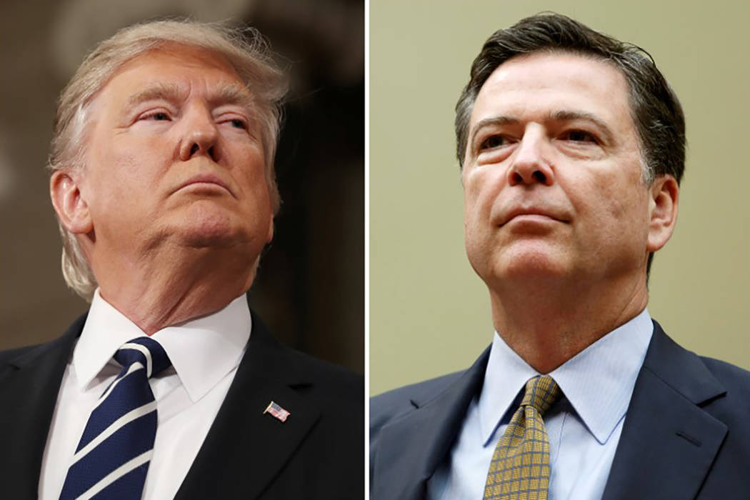 FIPresident Donald Trump (L) in the House of Representatives in Washington, U.S., on February 28, 2017 and FBI Director James Comey in Washington U.S. on July 7, 2016. (Jim Lo Scalzo/Pool, Reuters ...