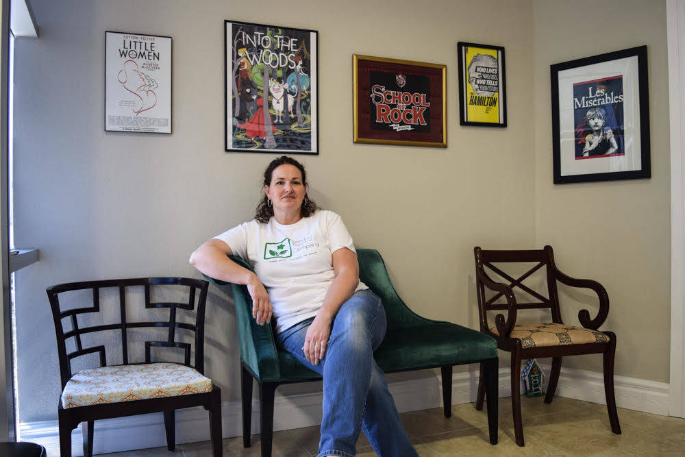 Owner/founder of Seedling Theatre Company Kris Blake volunteered at her children's schools for years to help with play productions until her husband suggested they start their own business. (Alex  ...