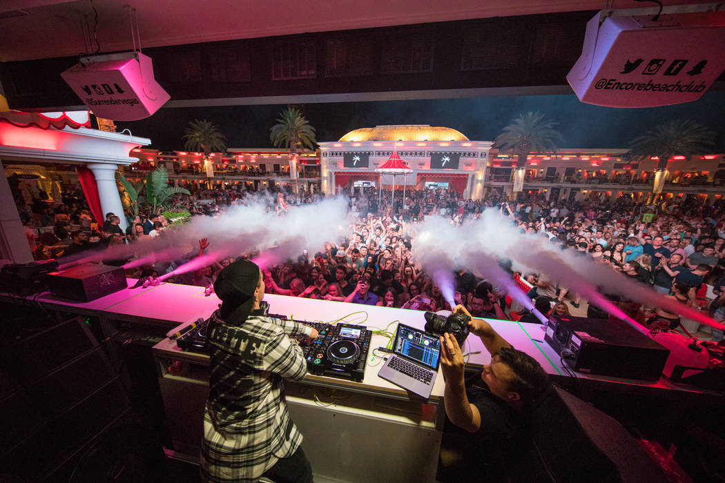 Kygo leads Surrender's seventh-anniversary celebration late Wednesday, June 7, 2017, at Encore in Las Vegas. (Tony Tran)