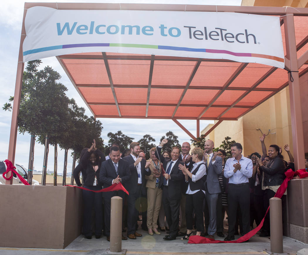 The ribbon cutting at the new TeleTech call center at the Boulevard Mall in Las Vegas on Thursday, June 8, 2017. Patrick Connolly Las Vegas Review-Journal @PConnPie
